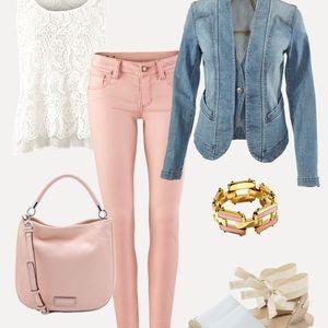 Cabi Nectar Skinny Jeans, 6, Pink, 224, EUC